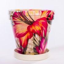 Glazed pot for flowers