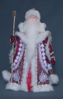 Santa Claus lace. Doll gift