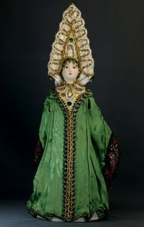 Doll gift porcelain. The Frog Princess. Fairy tale character.