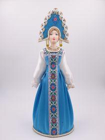 Doll gift porcelain, Girlish costume, 27cm