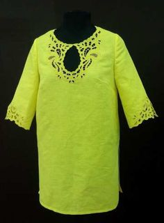 Women's tunic from natural flax