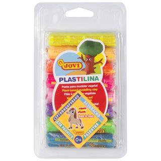 The plasticine plant-based JOVI (Spain), 8 colors, 120 g, neon