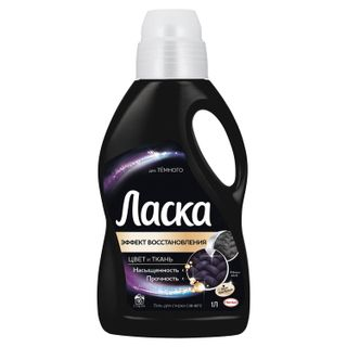 "Liquid laundry detergent LASKA ""For dark"" gel concentrate 1 l"