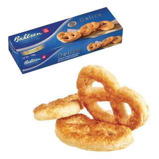 "BAHLSEN / Cookies-pretzels ""Delice"" puff, 100 g, carton, Germany"