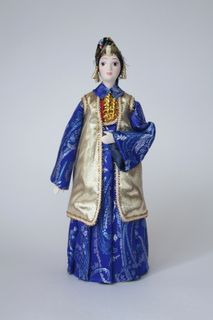 Doll gift. Women's festive costume. Kazan. The end of the 19th century - the Tatars