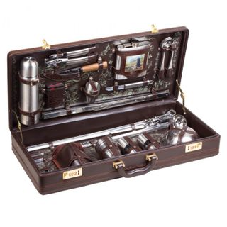 "Gift set in a leather case ""Bivouac"""