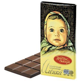 "RED OCTOBER / Milk chocolate ""Alenka"", 100 g"
