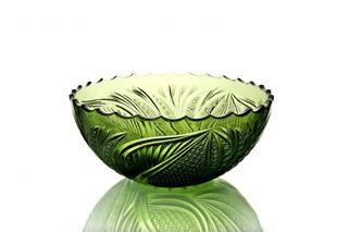 """Crystal vase for fruit """"Serenade"""" olive"""
