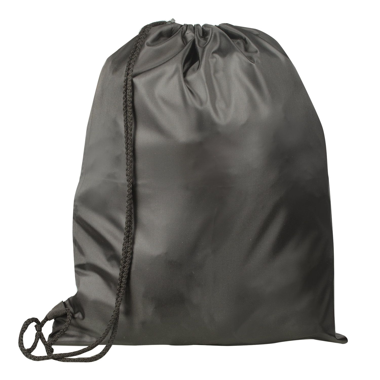 Shoe bag TOP-SPIN for elementary school students, 1 cord with plastic retainer, black, 43х35 cm