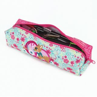 Pencil case-cosmetic bag TIGER FAMILY, polyester,