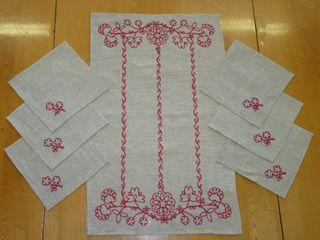A set of napkins Karelian patterns 64х40,20x20 cm