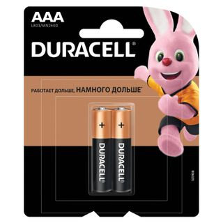 DURACELL / Batteries Basic, AAA (LR03, 24A), alkaline, little fingers, blister, SET 2 pcs.