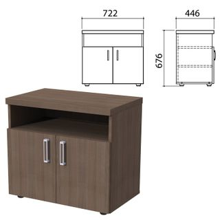 """Cabinet for office equipment """"Priority"""", 722x446x676 mm, 2 doors, shelf, garbo"""