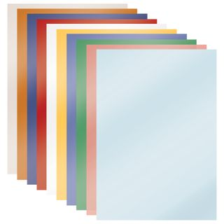 Colored paper A4 mother of PEARL, 10 sheets, 10 colors, 80 g/m2, BRAUBERG