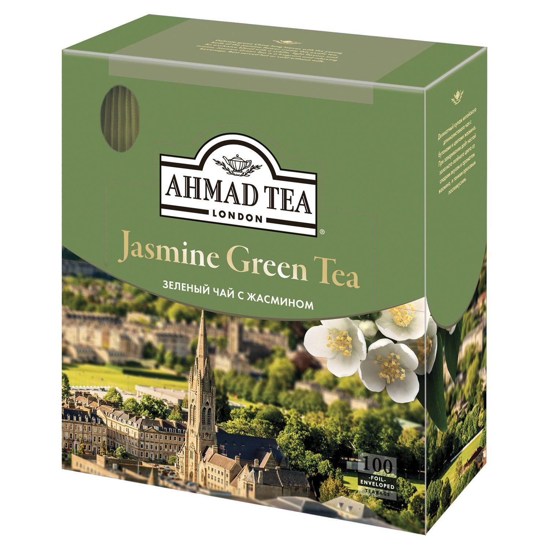 """AHMAD / Tea """"Jasmine Green Tea"""", green with jasmine, 100 sachets, 2 g each"""