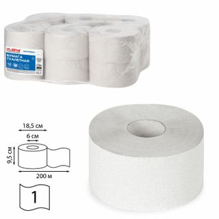 LAIMA / Toilet paper UNIVERSAL (T2 System) 1-layer 12 rolls of 200 meters, natural color