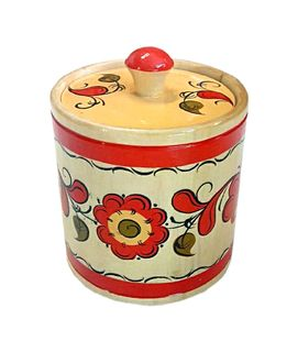 """Wooden barrel """"Permogorsk painting"""" 8 cm"""