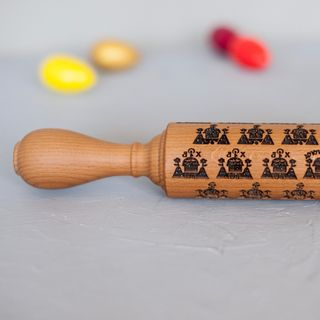 "Rolling pin with pattern ""Cake town"" medium (45 cm)"