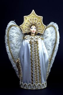 Doll gift porcelain. The Swan Princess. Fairy tale character.