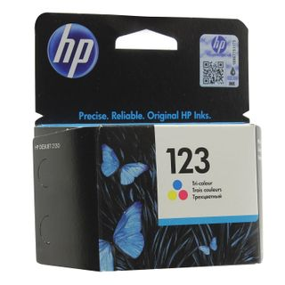 Inkjet cartridge HP (F6V16AE) Deskjet 2130, # 123, color, original, yield 100 pages.