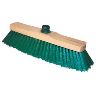 "YORK / Brush ""Sara"" for cleaning, width 32 cm, bristles 7 cm, wooden, Euro-thread fastening"