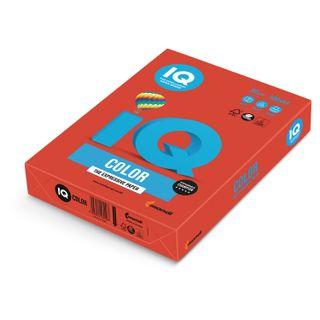 IQ COLOR / A4 paper, 80 g / m2, 500 sheets, intensive, coral red