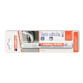 Edding / Peel-off marker, beveled nib, 4 mm, blister Colorless