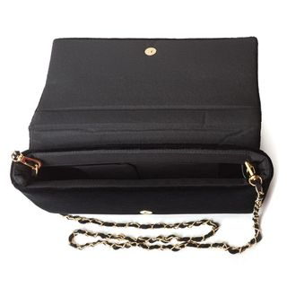 """Velvet clutch """"Jewel"""" in black with gold embroidery"""