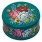 Zhostovo / Round medium tin can, author Danilova N. 15x15x10 cm - view 1