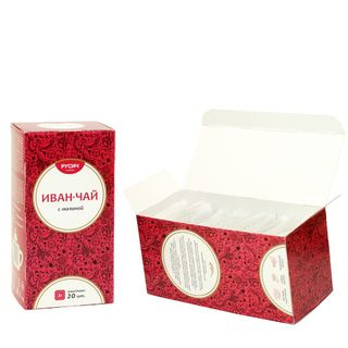 "Ivan-tea ""RUSICH"", Packed with raspberries, 20X2 g"