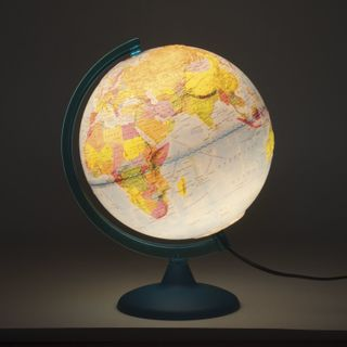 Globe political/physical diameter of 250 mm, embossed, illuminated