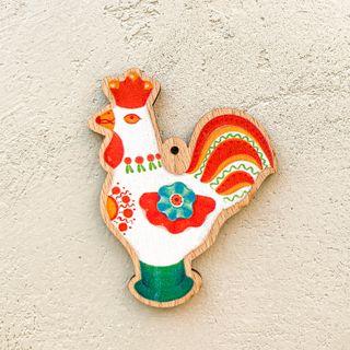 """Christmas tree toy """"Cock"""" (Dymkovo toys)"""