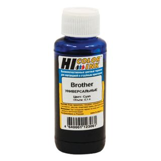 HI-COLOR ink for BROTHER universal, blue, 0.1 l, water
