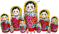 Nested doll - 12 puppet dolls