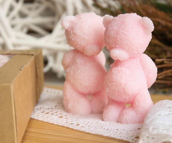 Olive soap Bear Modest pale pink