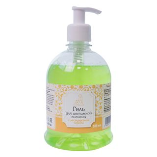 Gel for intimate hygiene with herbal extracts (yarrow, plantain, St. John's wort, string, lemon balm)