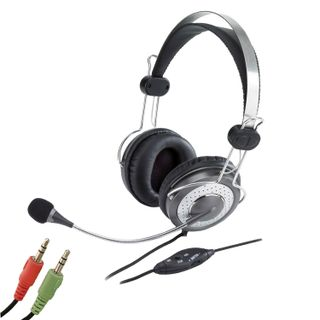 GENIUS / Headphones with microphone (headset) HS-04SU, wired, 2 m, stereo, headband, mini jack 3.5 mm