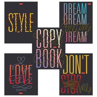 Notebook A5 96 sheets, HATBER, staple, line, selective varnish,