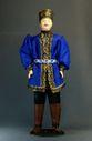 Doll gift porcelain. Kalmyk festive costume. - view 1