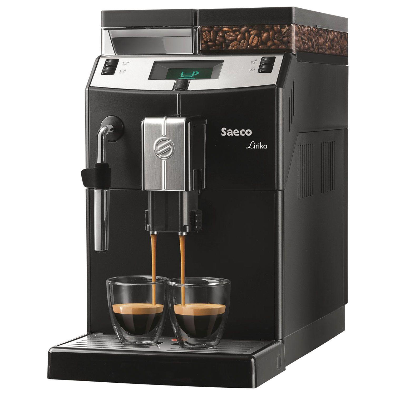 SAECO LIRIKA coffee machine, 1850 w, 2.5 litres, 500g grain container, hand-held cap, black