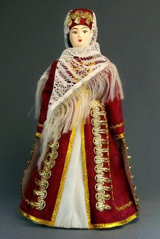 Doll gift porcelain. SEV. The Caucasus. Kabardian maiden costume.