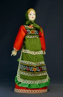 The petty bourgeois in elegant clothes. Russia. Souvenir doll.