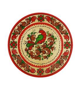 "Plate wooden ""Boretskaya painting"" 16 cm"