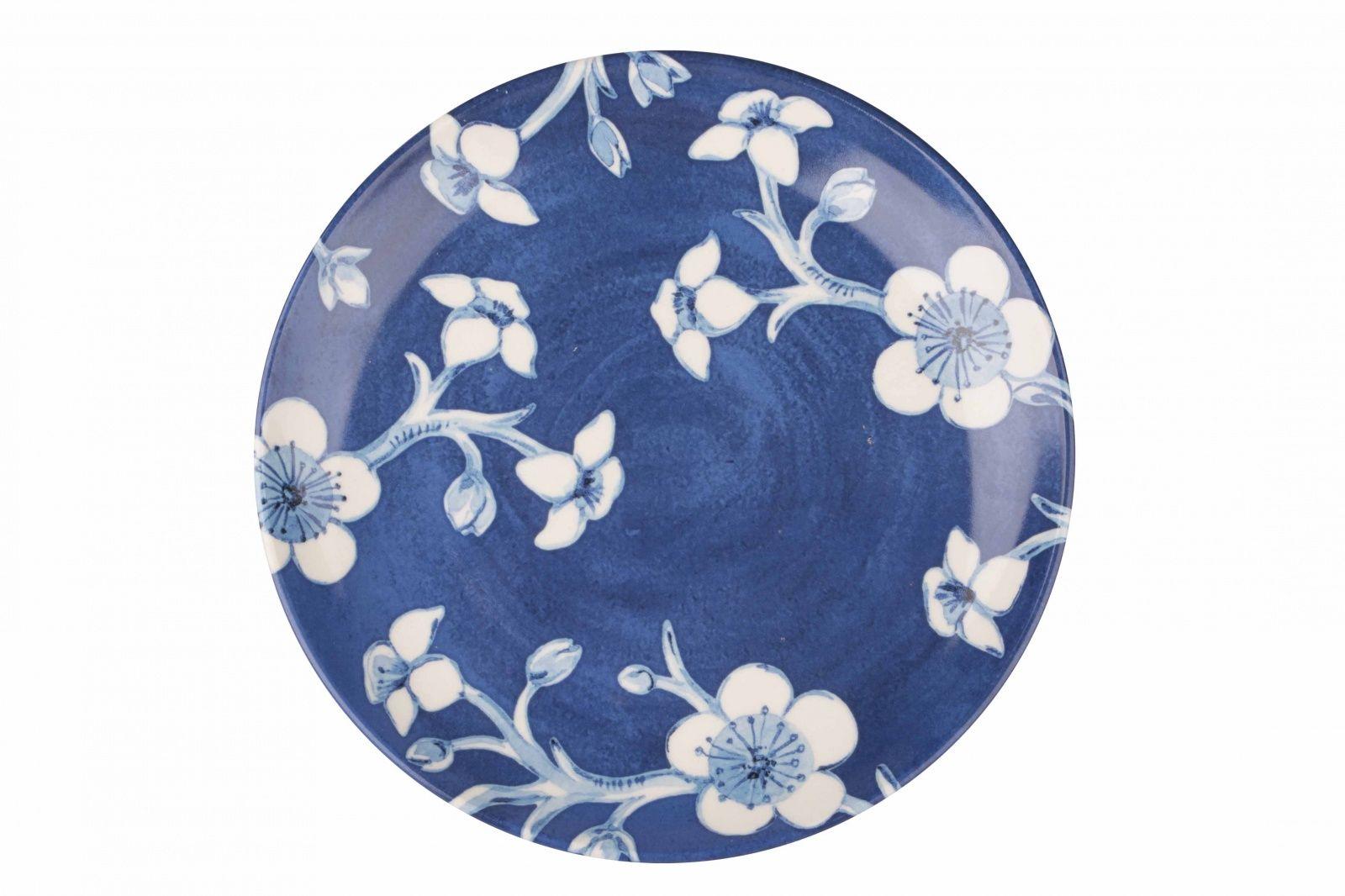Dulevo porcelain / Plate 210 mm Blue flowers (Ceramics)