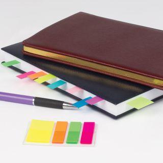 STAFF bookmarks, adhesive, plastic, 45х12 mm x 3 colors + 45х25 mm x 1 color, 25 sheets