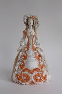 Doll gift. Lady in an evening toilet. the beginning of the 18th century