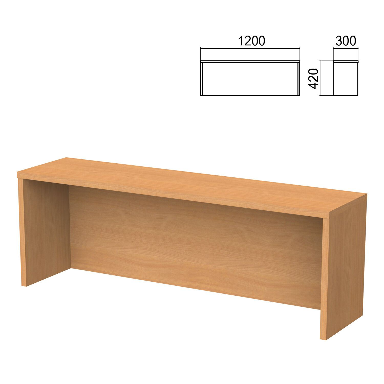 Argo table add-on, 1200 mm wide, aroso pear