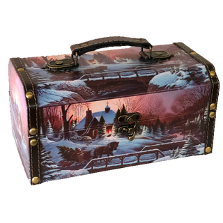 """New Year's gift """"Picturesque"""" chest, set of sweets 600g."""
