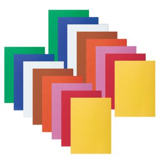 Colored paper, SMALL FORMAT, A5, VELVETY, 16 sheets 8 colors, 110 g/m2, INLANDIA,