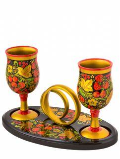 """Set of glasses """"Sovet da Lyubov"""", 3 items"""